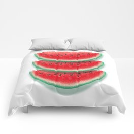 Slices of watermelon Comforters