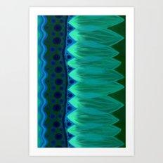 Blue Lotus Petals Art Print