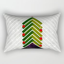 084 - Owly sitting the Christmas rocket tree Rectangular Pillow
