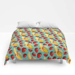 Strawberry Banana Pattern Comforters