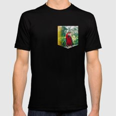 You Can Be My Mirror Baby MEDIUM Black Mens Fitted Tee