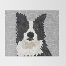 Beautiful Border Collie Throw Blanket