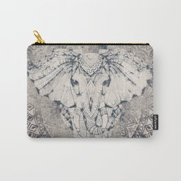 Indian Elephant Mandala Carry-All Pouch