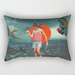The Boy and the Birds Rectangular Pillow