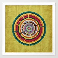 Lost in color Art Print