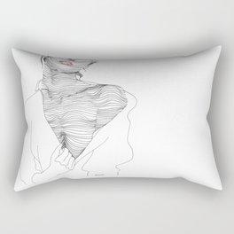 line drawing of a beautiful muse Rectangular Pillow