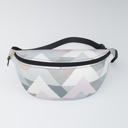 Pastel Graphic Winter Trees on Geometry #abstractart Fanny Pack