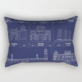 The Architecture of Pakistan Rectangular Pillow