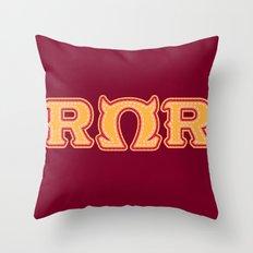 Monster University Fraternity : Roar Omega Roar Throw Pillow