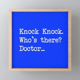 Knock-Knock 1 Framed Mini Art Print