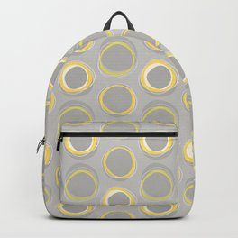 Solar Eclipse MCM Gray-Yellow Backpack