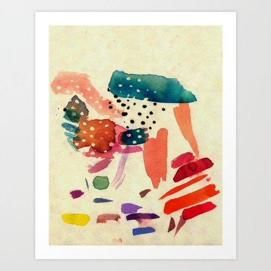 End of rain Art Print
