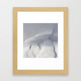 Planet Snow 2 Framed Art Print