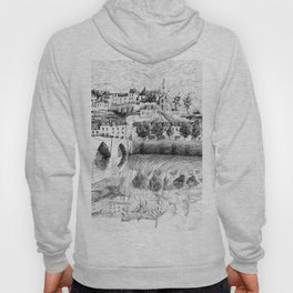 Terrasson village - France drawing Hoody