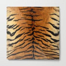 Faux Siberian Tiger Skin Design Metal Print