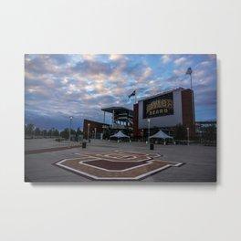 McLane Stadium Clouds Metal Print