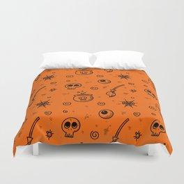 Halloween symbols seamless pattern Duvet Cover