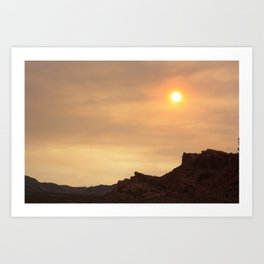 Desert Sunset Photo Art Print