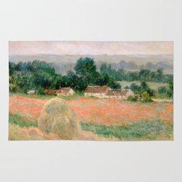 Haystack at Giverny by Claude Monet Rug