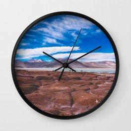 Piedras Rojas (Red Rocks), San Pedro de Atacama Desert, Chile Wall Clock