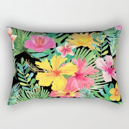 Tropical Floral Pattern Hawaii Rectangular Pillow