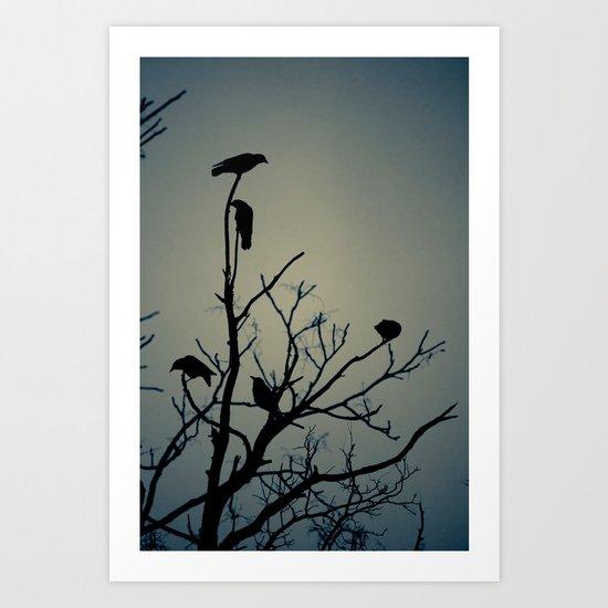 Crows Silhouette Art Print