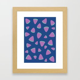 Abstract Graphic Pattern | Blue | Pink | Green Framed Art Print