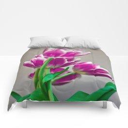 Pink Tulips Comforters