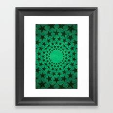 Green Stars Framed Art Print