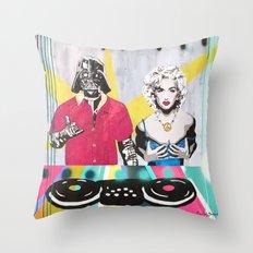 Music Rave Fun Throw Pillow