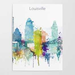 Colorful Louisville skyline design Poster