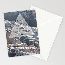 My God My Rock Stationery Cards