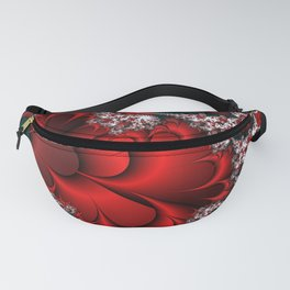 Red Sweetheart Fractal Fanny Pack