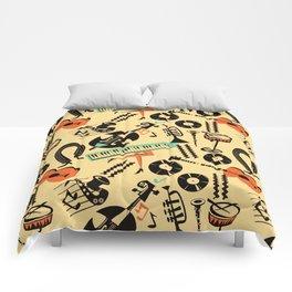 Jazz Rhythm (positive) Comforters