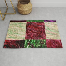 Patchwork color gradient and texture 2 Rug