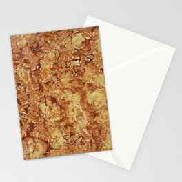 Polished Marble Stone Mineral  Abstract Texture 3 Stationery Cards