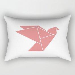 Rose Bird Origami Rectangular Pillow