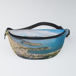 Queenstown Panorama at golden hour, New Zealand. Fanny Pack