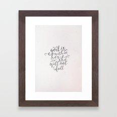 SHE WILL NOT FALL Framed Art Print