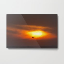 Into the Sunset. Metal Print