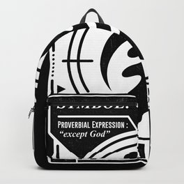 Gye Nyame   Black Design   Adinkra Symbol   Ghana  Backpack