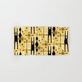 Retro Atomic Mid Century Pattern 771 Yellow Hand & Bath Towel