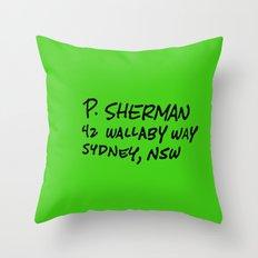 shark bate's address..  Throw Pillow