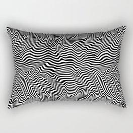 Op Art Stripes Rectangular Pillow