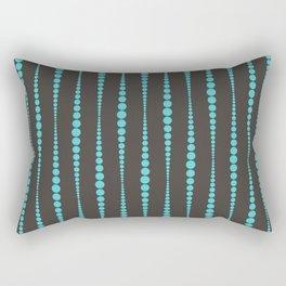 Chocolate Brown and Teal Rectangular Pillow