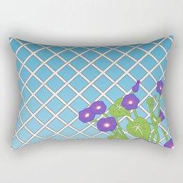 Morning Glory Pattern Blue Sky Rectangular Pillow