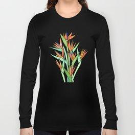 Birds of Paradise ~ tropical bouquet Long Sleeve T-shirt