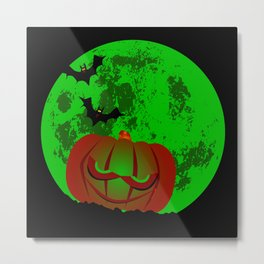 Full Halloween Moon Metal Print