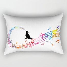 Musical Dog Rectangular Pillow