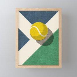 BALLS / Tennis (Hard Court) Framed Mini Art Print